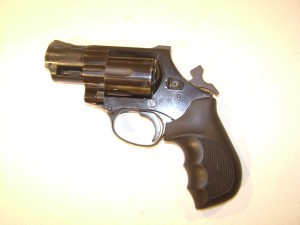 Double Action - Single Action Revolver with the hammer cocked
